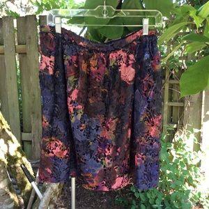 Catherine Malandrino skirt floral overlay, new